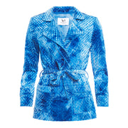 HEFNER VELVET LOUNGE JACKET ELECTRIC BLUE