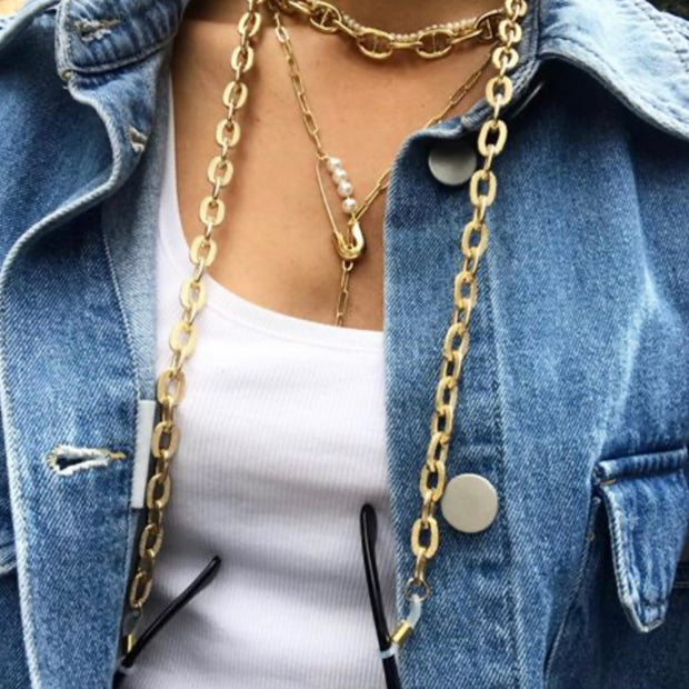 TALIS  SAFETY PIN NECKLACE