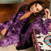 HEFNER VELVET LOUNGE JACKET PURPLE