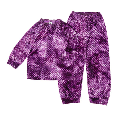 HEFNER GIRLS VELVET LOUNGE SUIT PURPLE