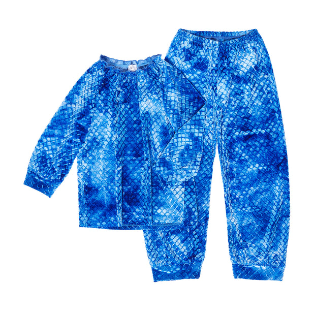 HEFNER GIRLS VELVET LOUNGE SUIT ELECTRIC BLUE