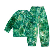 HEFNER GIRLS VELVET LOUNGE SUIT EMERALD GREEN