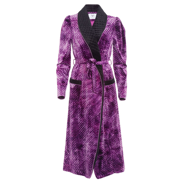 HEFNER VELVET ROBE PURPLE