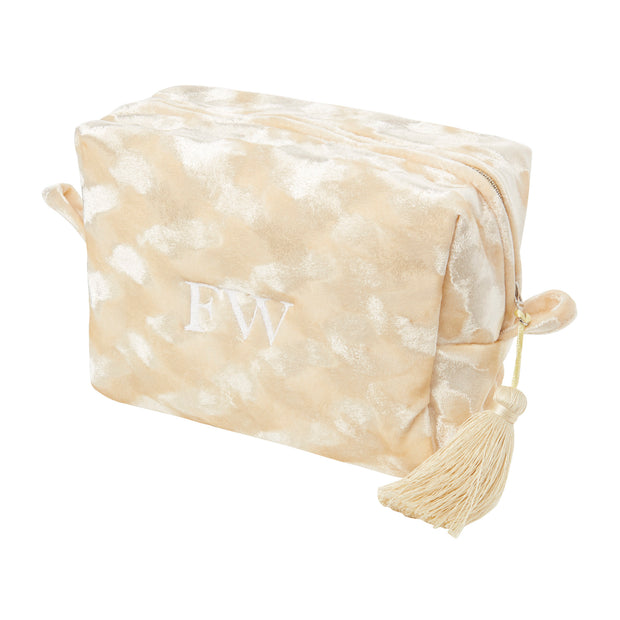MADAM HEFNER VELVET COSMETIC BAG CREAM L