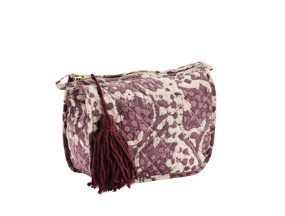 PRINTED BAG ROSE WITH TASSEL