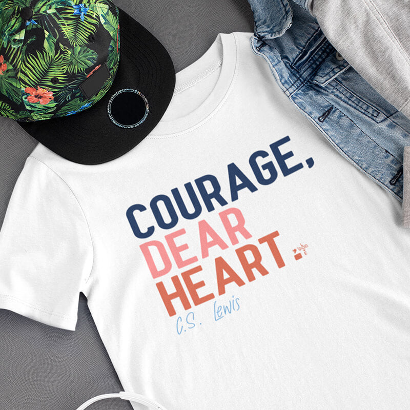 Courage, Dear Heart Unisex Heavy Cotton Tee