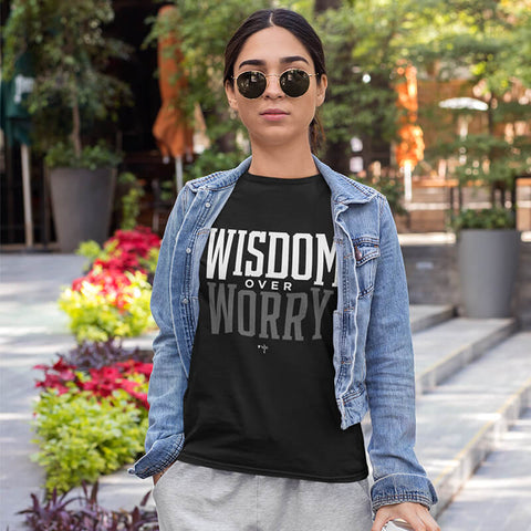 Wisdom Over Worry Unisex Heavy Cotton Tee - Shop Love God