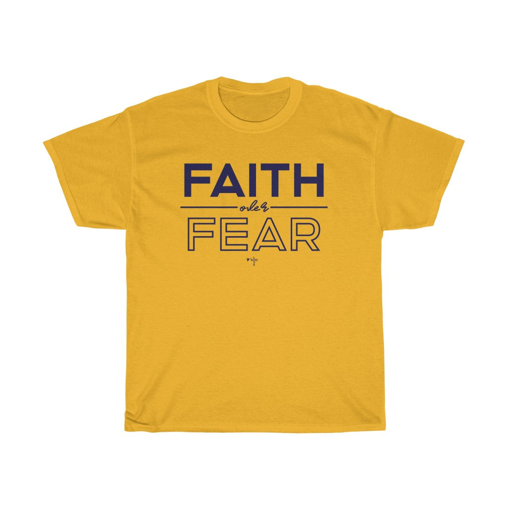 Faith Over Fear Unisex Heavy Cotton Tee