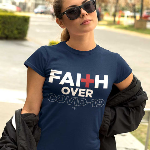 Faith Over Covid-19 Unisex Heavy Cotton Tee - Shop Love God