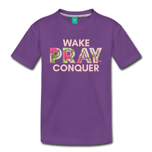 Wake Pray Conquer Toddler Premium T-Shirt - Shop Love God