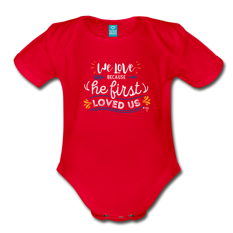 We Love Organic Short Sleeve Baby Bodysuit - Shop Love God
