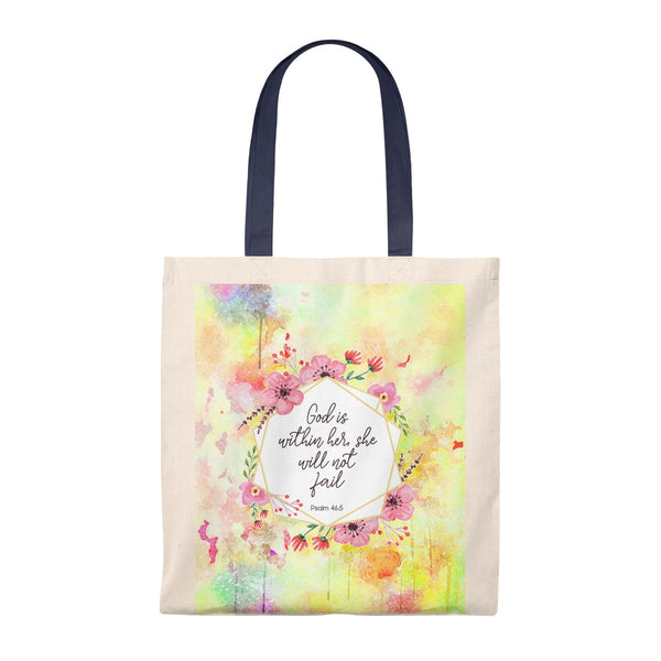 God Is Within Her, She Will Not Fail Vintage Tote Bag - Shop Love God