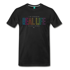 Real Life Men's Premium T-Shirt - black