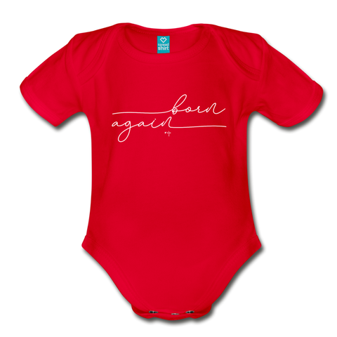 Born Again Organic Short Sleeve Baby Bodysuit - Shop Love God