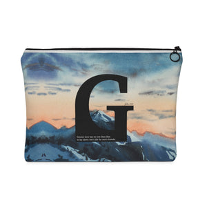 Greater Love Carry All Pouch - Flat - Shop Love God