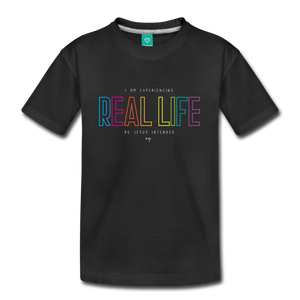 Real Life Kids' Premium T-Shirt - black