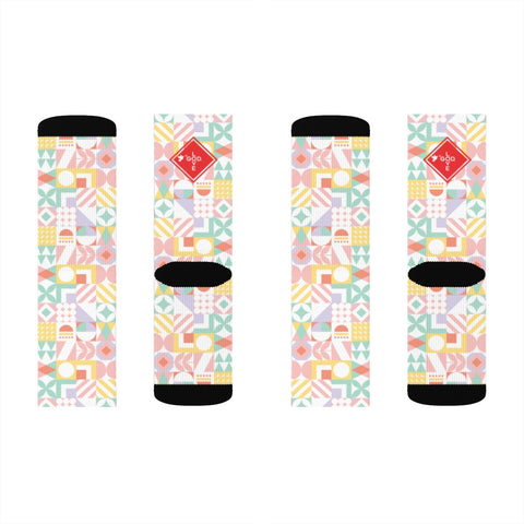 Pastel Abstract Sublimation Socks - Shop Love God