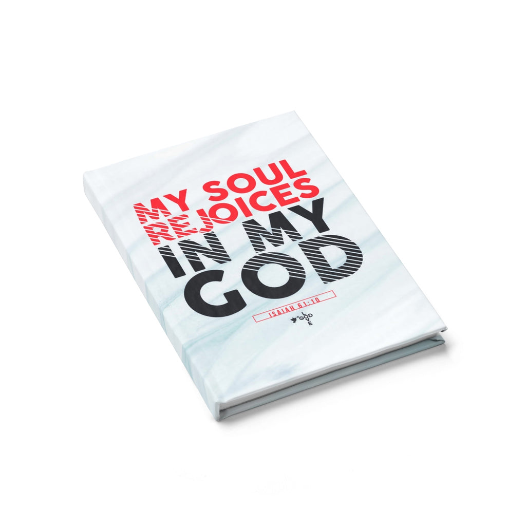 My Soul Rejoices in My God Hardcover Journal - Ruled