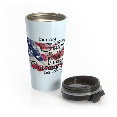 Be on Your Guard Stainless Steel Travel Mug