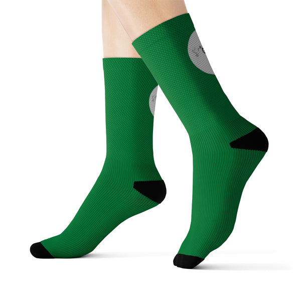 Plain Green Sublimation Socks - Shop Love God