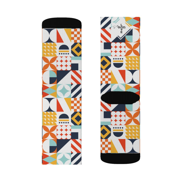 Colorful Abstract Sublimation Socks - Shop Love God