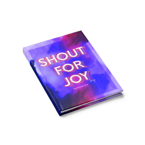Shout for Joy Hardcover Journal - Ruled