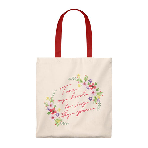 Tune My Heart To Sing Thy Grace Tote Bag - Shop Love God