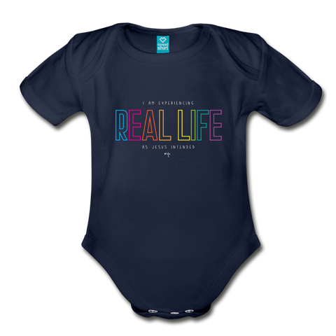 Real Life Organic Short Sleeve Baby Bodysuit - Shop Love God