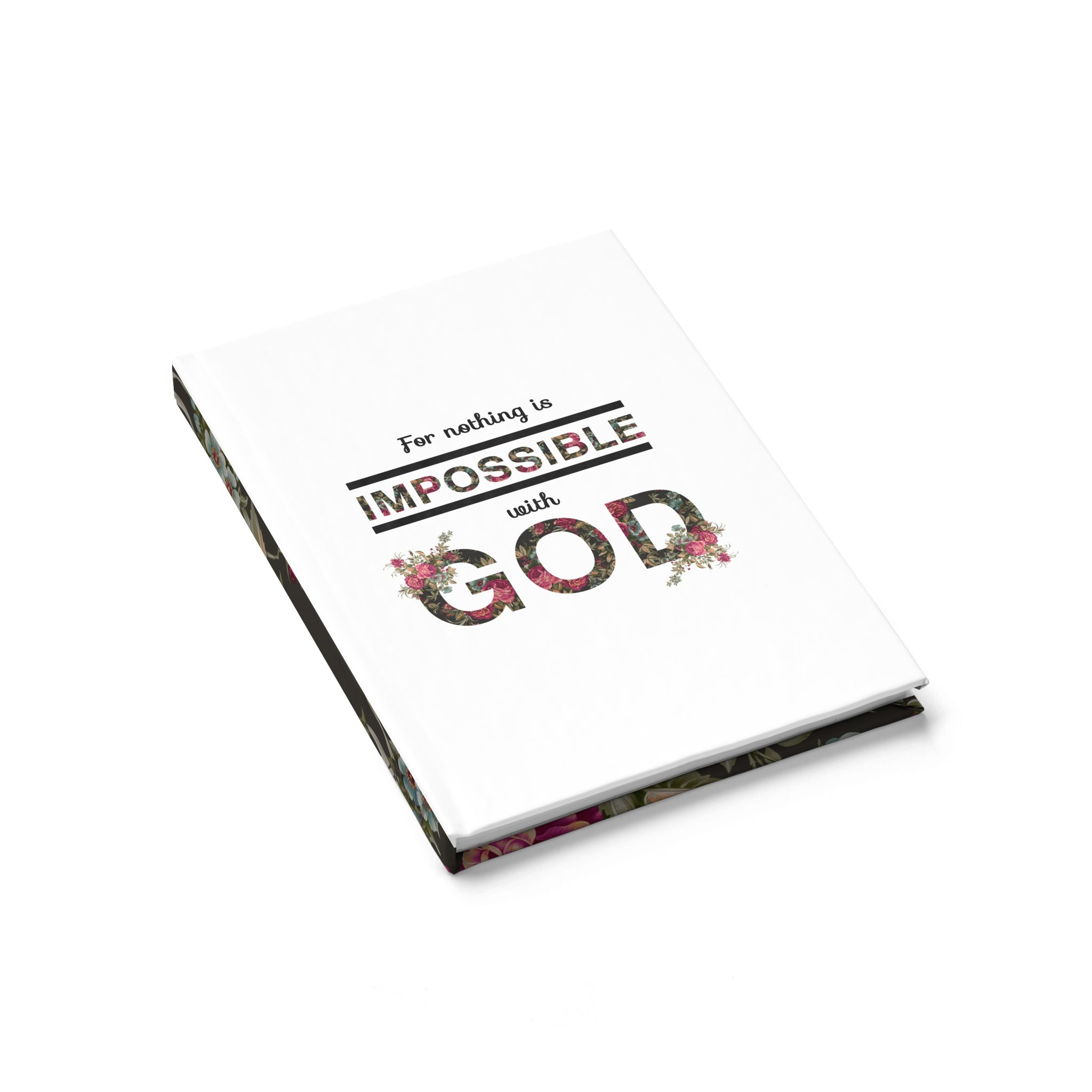 For Nothing Is Impossible With God Hardcover Journal - Ruled - Shop Love God