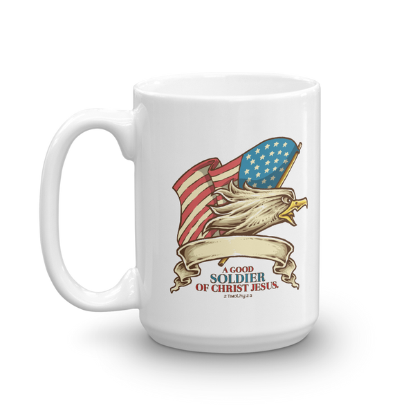 A Good Soldier of Christ White PERSONALIZED Mug - Shop Love God