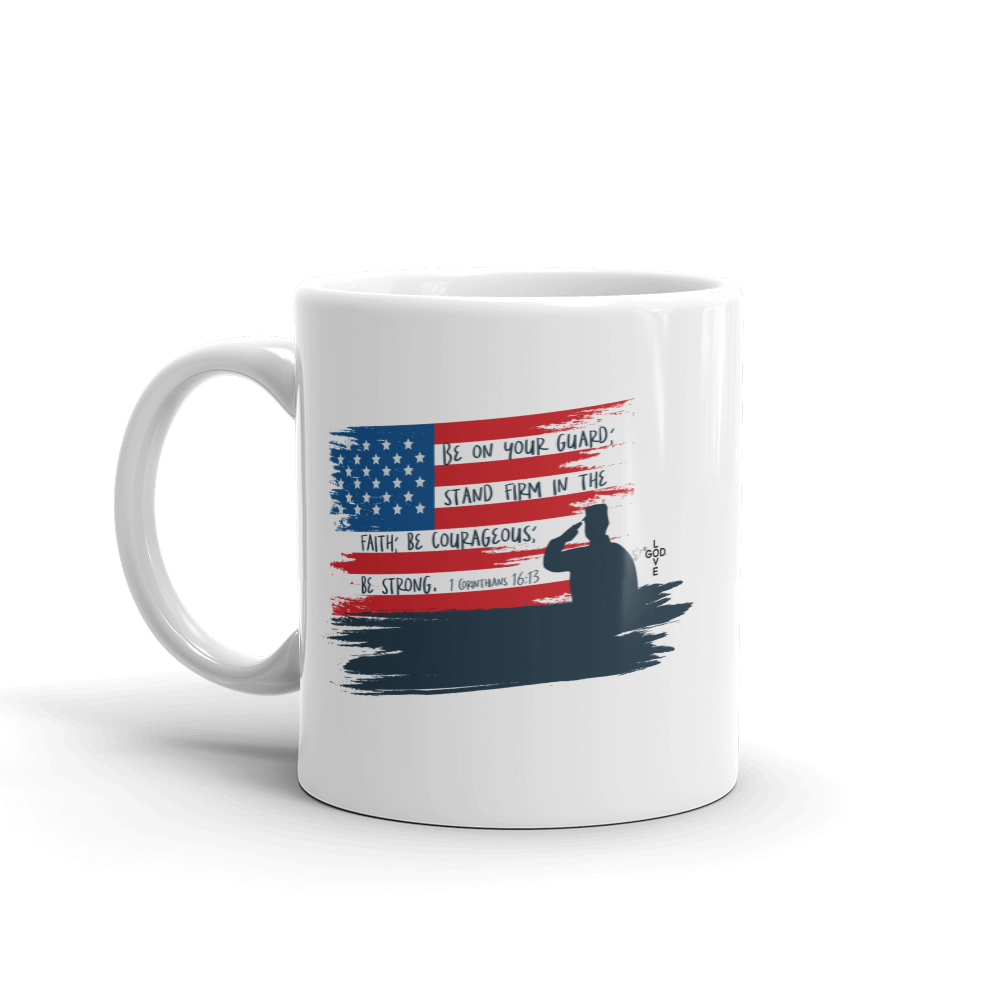 Be On Your Guard White PERSONALIZED Mug - Shop Love God