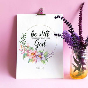 Be Still Printable Digital Wall Art - Shop Love God
