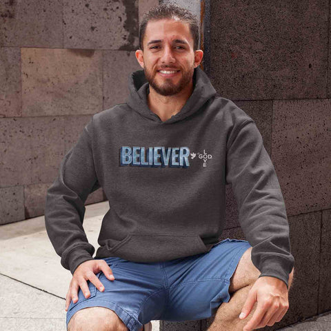 Believer Unisex Heavy Blend™ Hooded Sweatshirt - Shop Love God