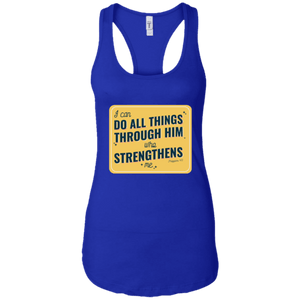 Do All Things Through Him Ideal Racerback Tank - Shop Love God