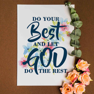 Do Your Best Printable Digital Wall Art - Shop Love God