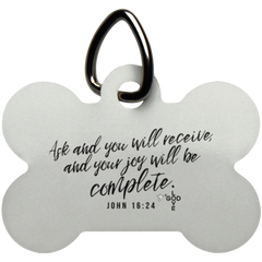 Ask & You Will Receive Dog Bone Pet Tag - Shop Love God