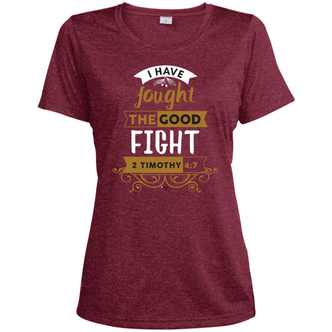 I Have Fought Ladies' Heather Dri-Fit Moisture-Wicking T-Shirt - Shop Love God