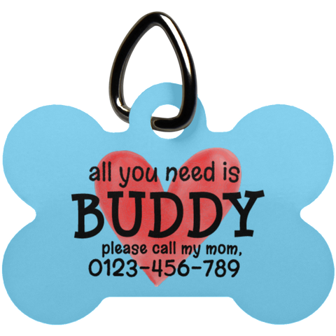 All You Need Is Love Bone Pet Tag - Shop Love God
