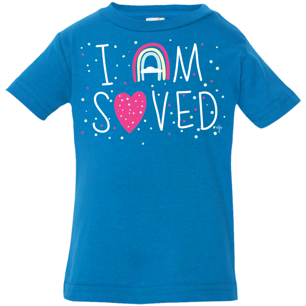 I Am Saved Infant Jersey T-Shirt - Shop Love God