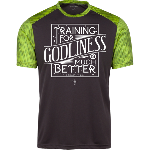 Training for Godliness CamoHex Colorblock T-Shirt
