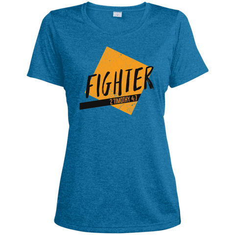 Fighter Ladies' Heather Dri-Fit Moisture-Wicking T-Shirt - Shop Love God