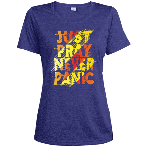 Just Pray Ladies' Heather Dri-Fit Moisture-Wicking T-Shirt