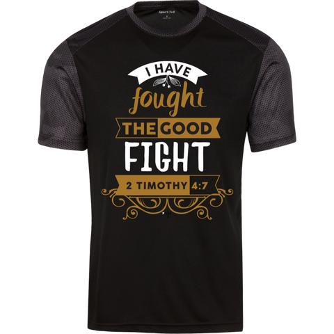 I Have Fought CamoHex Colorblock T-Shirt - Shop Love God