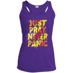 Just Pray Ladies' Racerback Moisture Wicking Tank