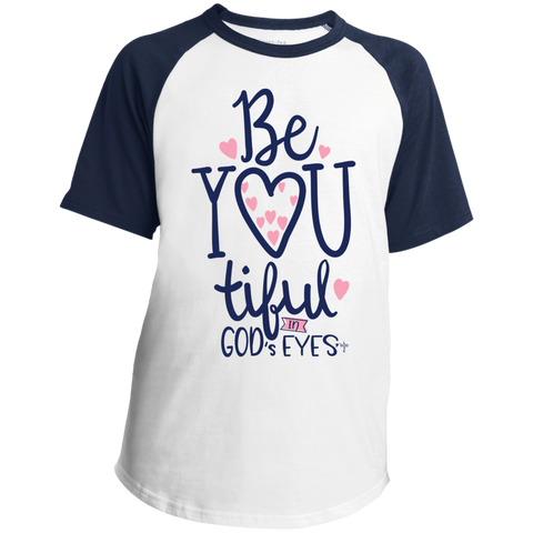 Be-You-Tiful Youth SS Colorblock Raglan Jersey - Shop Love God