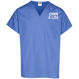 Own Your Health Solid Scrub Top