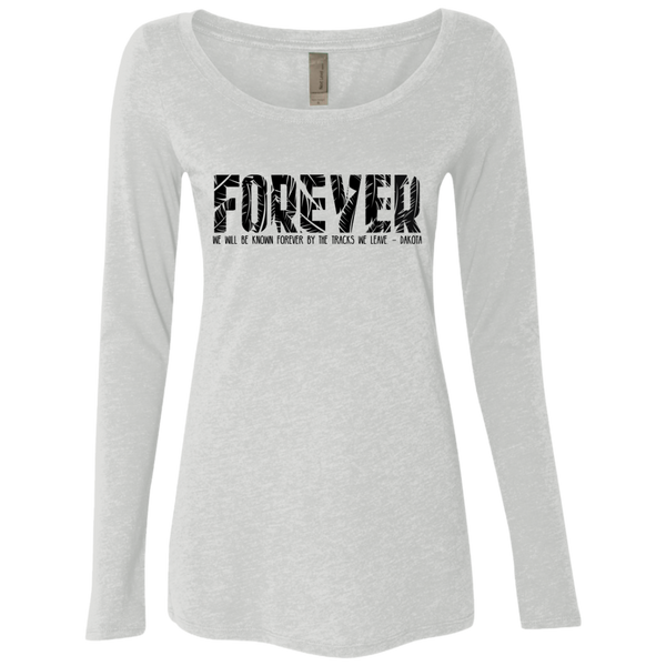 Forever Ladies' Triblend Long Sleeve Scoop - Shop Love God