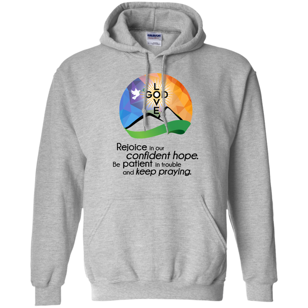 Rejoice Pullover Hoodie 8 oz. - Shop Love God