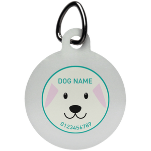 Personalized Dog Face Pet Tag