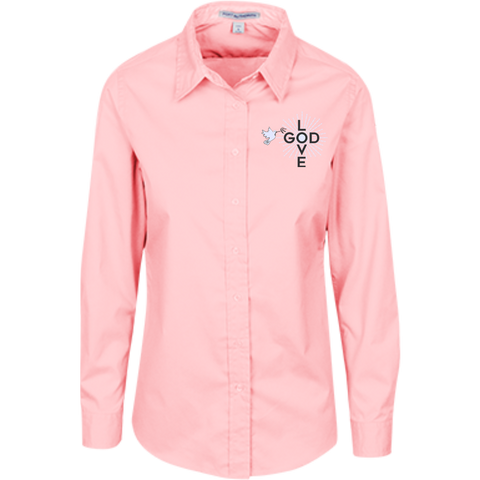 Love God Ladies' Long Sleeves Dress Shirt - Shop Love God
